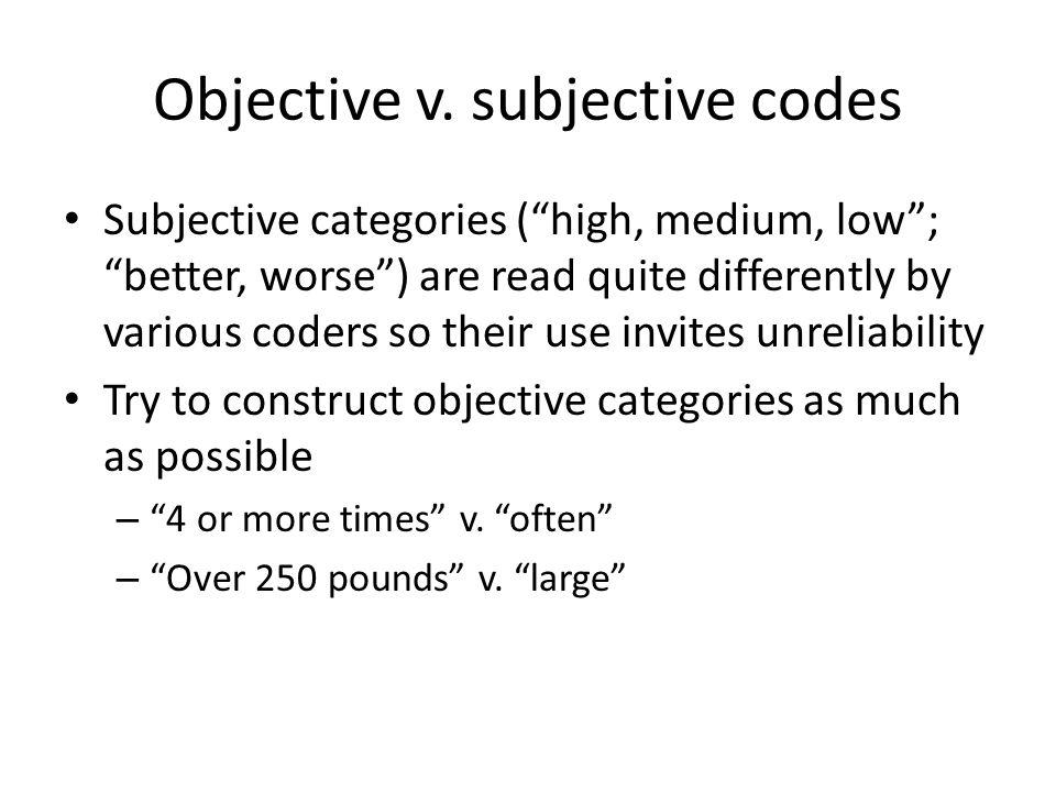Objective v.