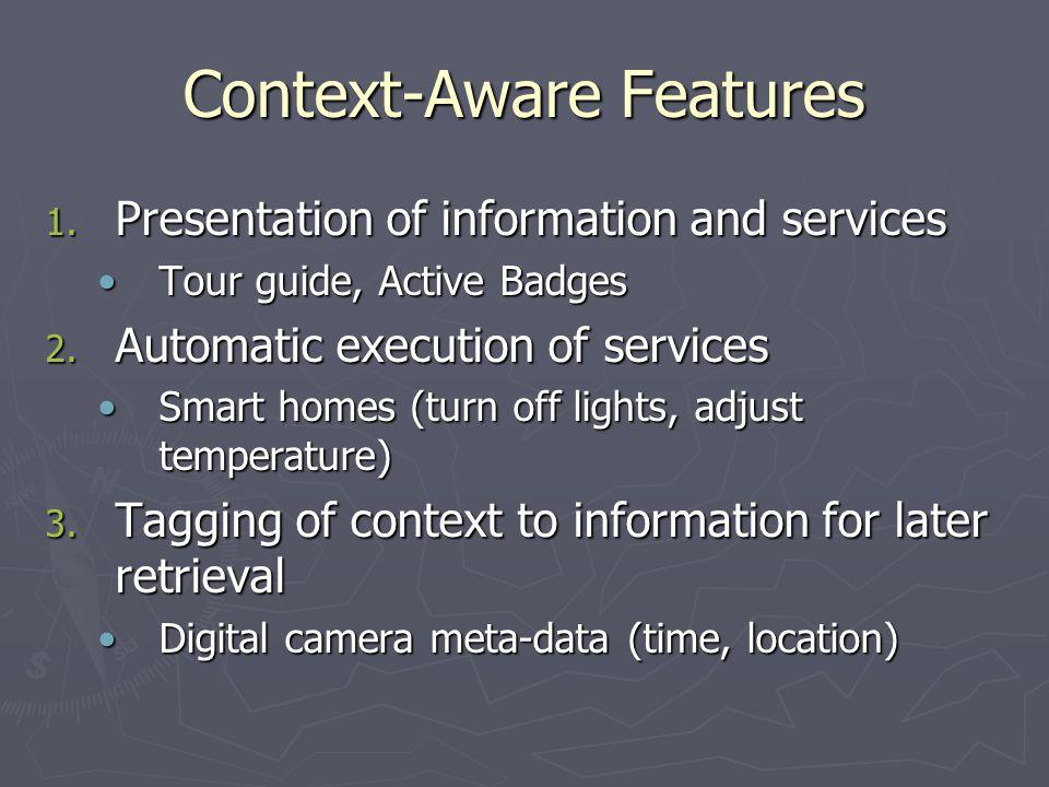 Context-Aware Features 1.