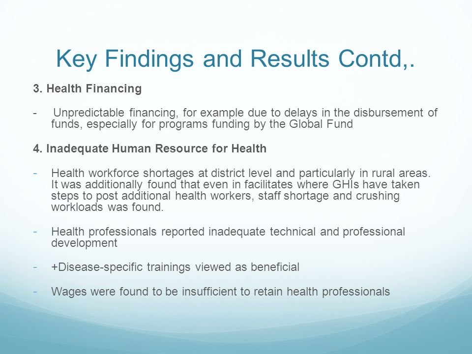 Key Findings and Results Contd,. 3.