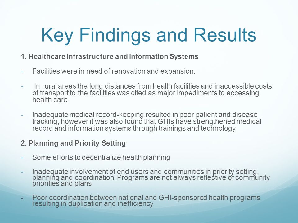 Key Findings and Results Contd,.3.