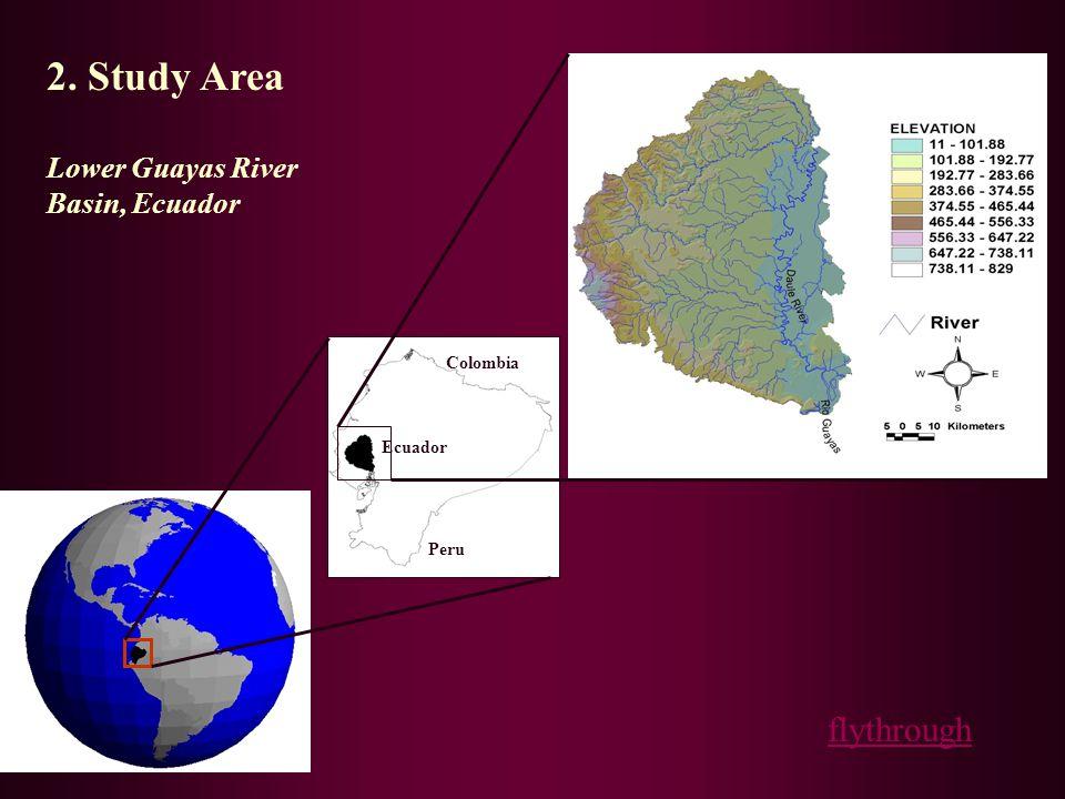 2. Study Area Lower Guayas River Basin, Ecuador Ecuador Peru Colombia flythrough