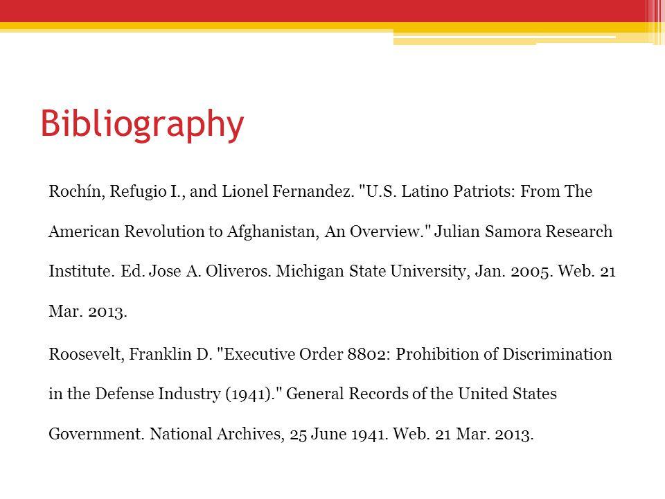 Bibliography Rochín, Refugio I., and Lionel Fernandez.