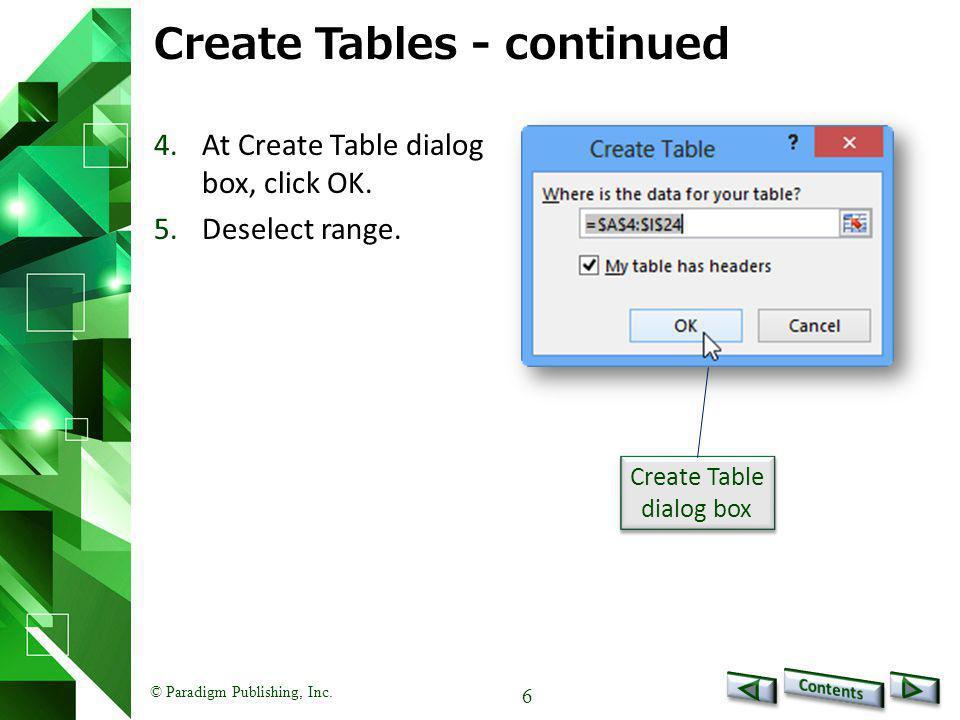 © Paradigm Publishing, Inc. 27 Data Tools - continued