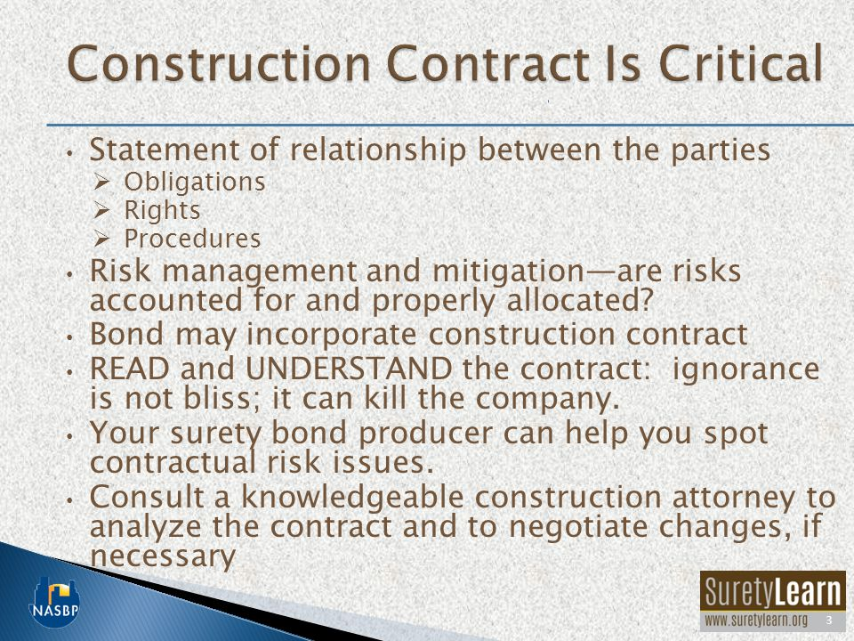 The term construction contract is somewhat confusing because it is NOT just one document.