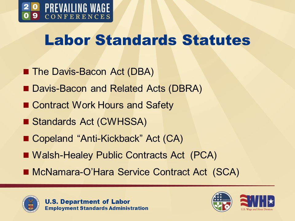 U.S.Department of Labor Employment Standards Administration Workers with Disabilities (29 C.F.R.