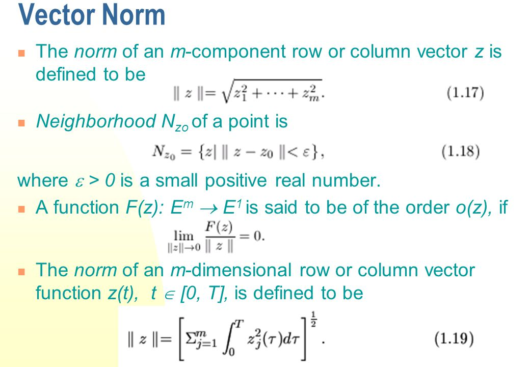 Product Rule for Differentiation Let x  E n be a column vector and g(x)  E n be a row vector and f(x)  E n be a column vector, then