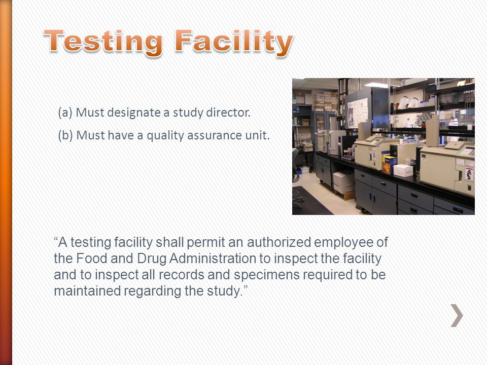 A testing facility shall have standard operating procedures in writing setting forth study methods that insure the quality and integrity of the data generated in the course of a study.