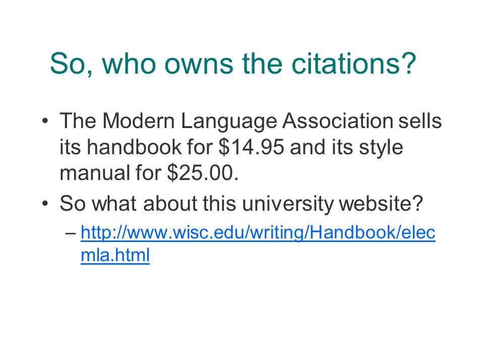So, who owns the citations.