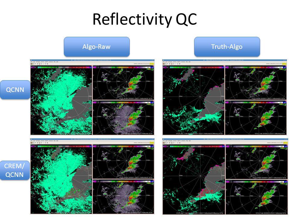 Reflectivity QC QCNN CREM/ QCNN Algo-Raw Truth-Algo