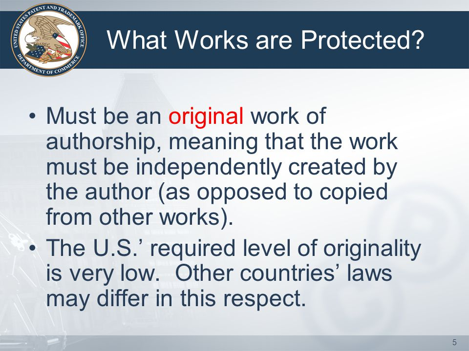 5 What Works are Protected.