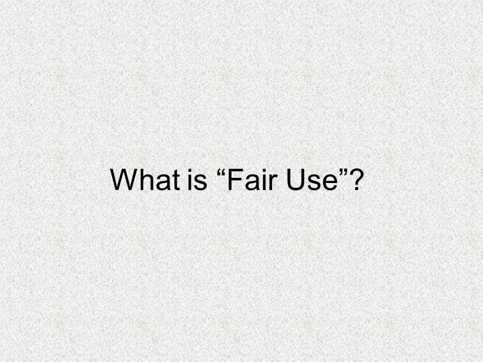 Fair use deals with Copyright and educational use of intellectual material.