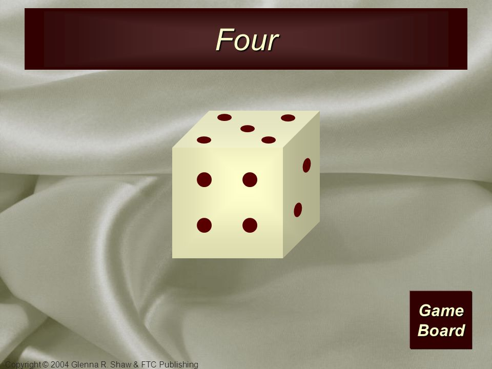 Copyright © 2004 Glenna R. Shaw & FTC Publishing Game Board Three