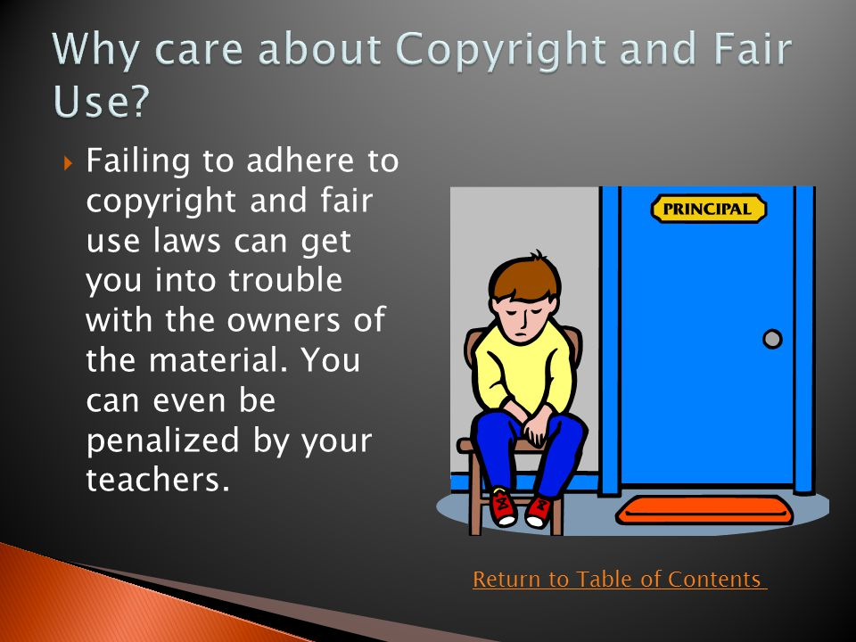  If you do decide to use copyrighted materials without permission you may very well get away with it but it is the wrong thing to do.