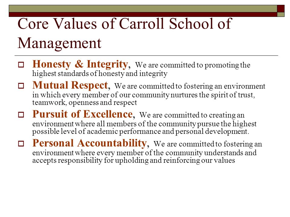 Why are Core Values Important.