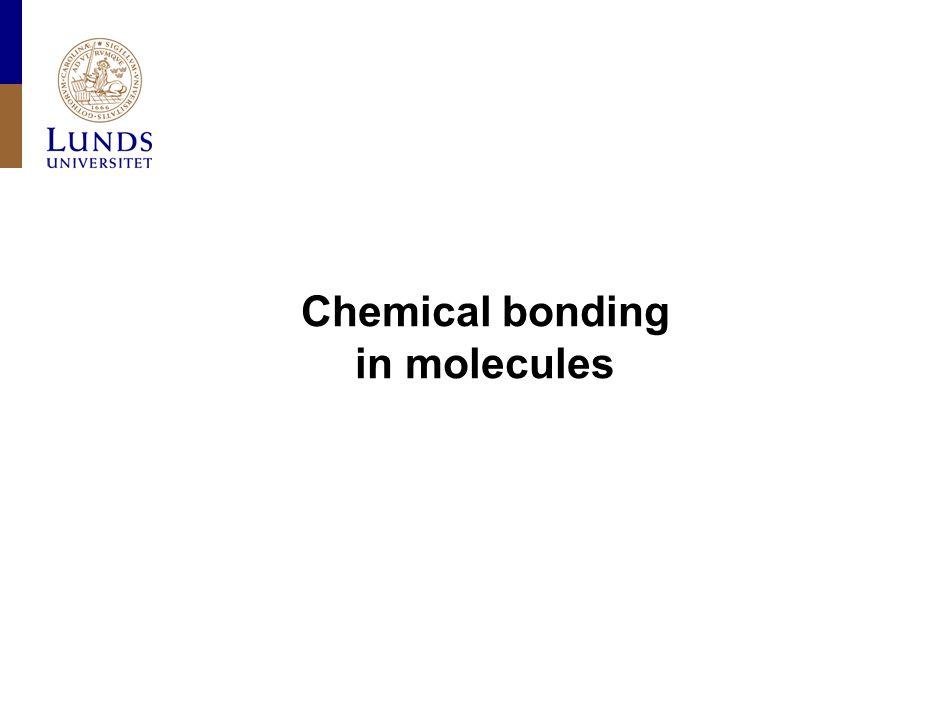 Chemical bonding in molecules