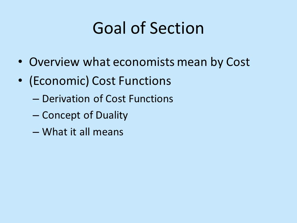 Fixed Cost (FC) Costs that do not vary with the level of output Q during the planning period Cost of resources committed through previous planning Property Taxes, Insurance, Depreciation, Interest Payments, Scheduled Maintenance In the long run, all costs are variable because you can change assets