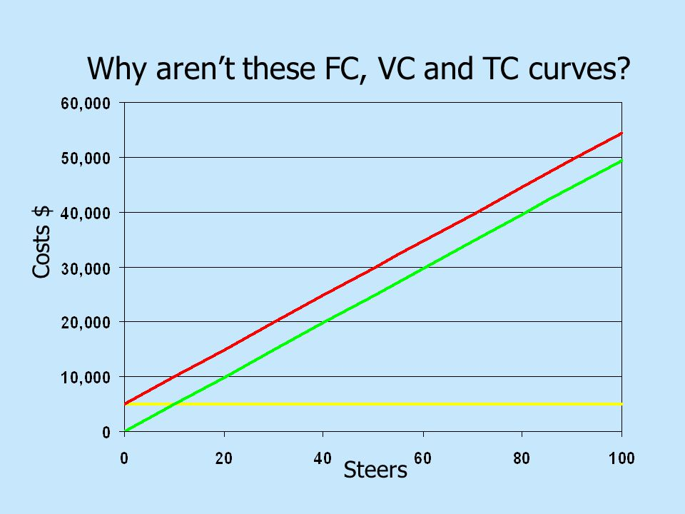 Steers Costs $ Why aren't these FC, VC and TC curves?