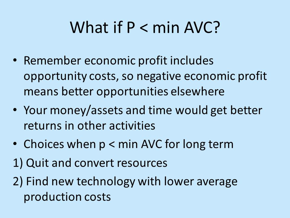 What if P < min AVC.
