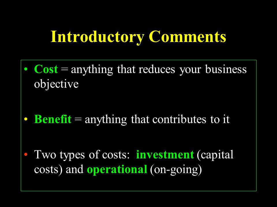 Spreadsheet 3: Proforma Statement of Costs