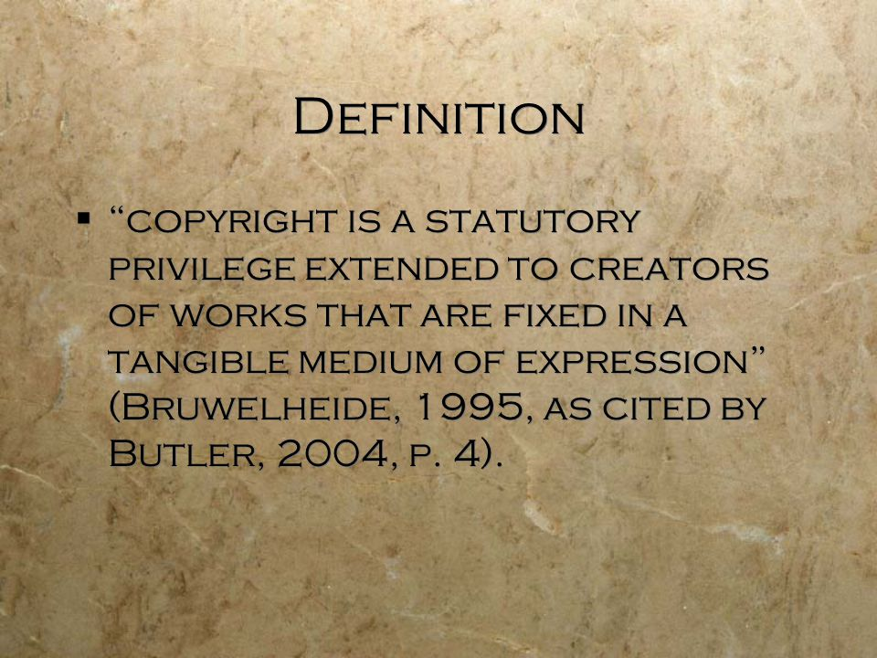 What is copyrighted.