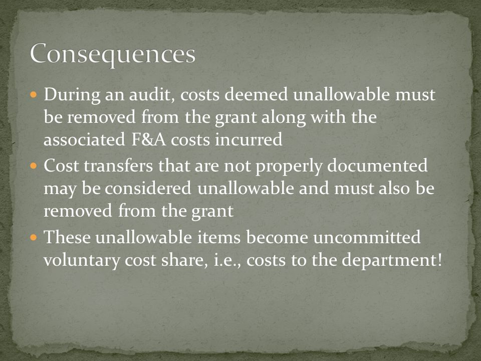 In some cases the proposal guidelines determine how the items of cost will be labeled In case of a discrepancy between the provisions of a specific sp