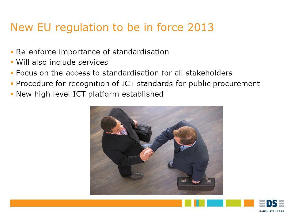 """Tekstslide i punktform Rubrik, helst 1 linje Brug """"Forøg/Formindsk indryk"""" for at få de forskellige niveauer frem New EU regulation to be in force 201"""