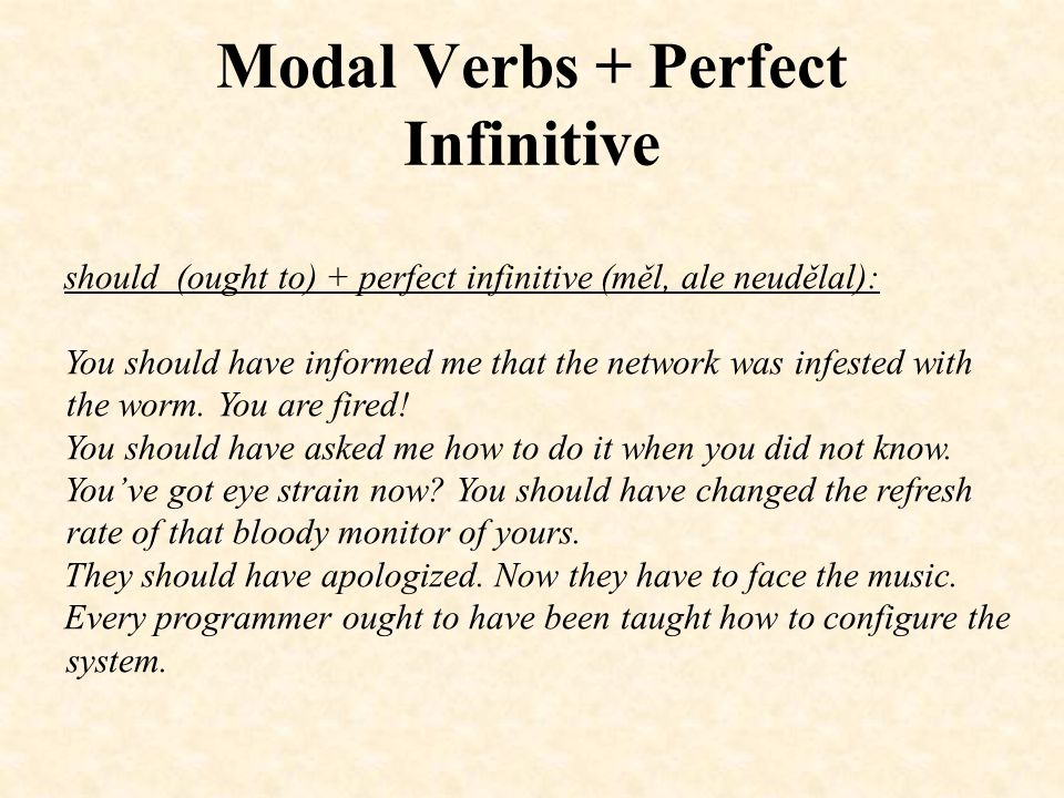 Modal Verbs + Perfect Infinitive Negatives: He couldn't have been so cruel to you.