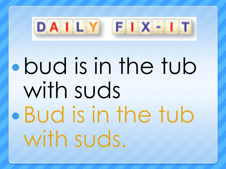 bud is in the tub with suds Bud is in the tub with suds.