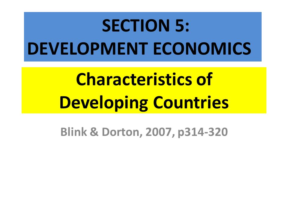 DIVERSITY AMONG DEVELOPING COUNTRIES 2.