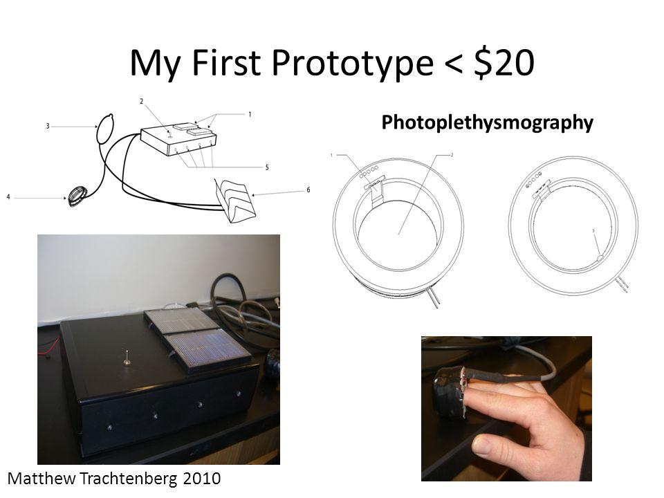 My First Prototype < $20 Matthew Trachtenberg 2010 Photoplethysmography