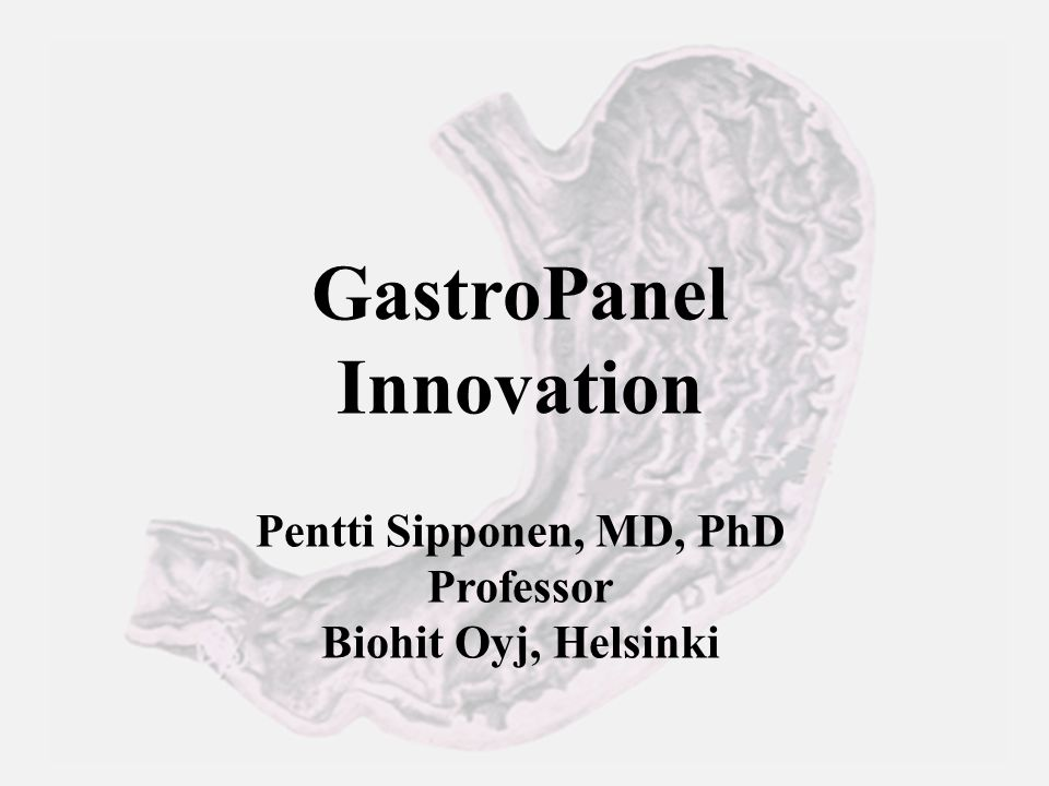 Theranostic GastroPanel diagnosis and Acetium preventive treatment GastroPanel  Diagnose atrophic gastritis – Acid-free stomach: low PGI and/or low PGI/PGII and high G-17  Acid-free stomach is a risk factor of gastric and oesofageal cancer Acetium capsule  Binds and inactivates carcinogenic acetaldehyde (class 1 carcinogen for humans/WHO-IARC Oct 2009) in an acid-free stomach caused by atrophic gastritis or autoimmune disease