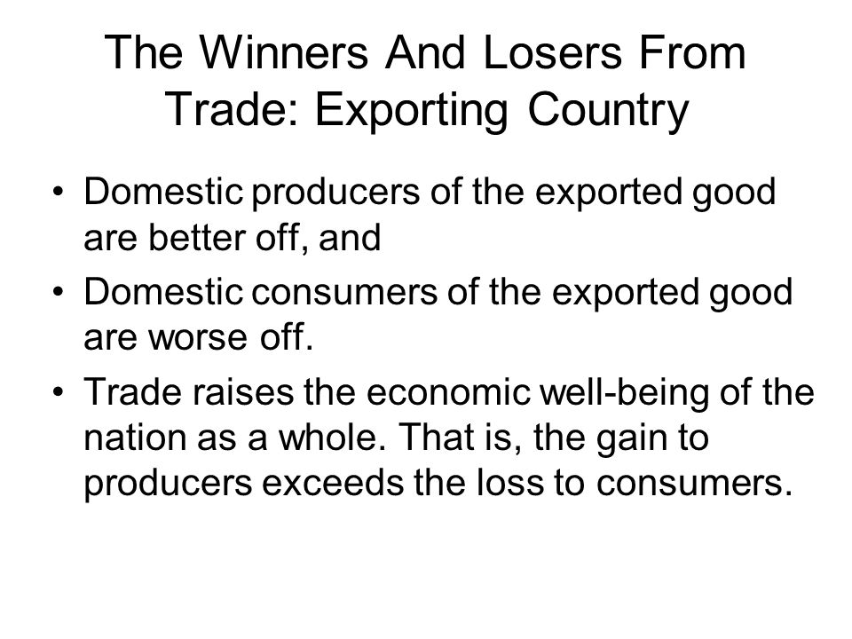 Growth and Terms of Trade EuropeJapanWorld BeforeAfterBeforeAfterBeforeAfter Consumer Surplus ABCDABFGIJINPNO Producer Surplus ECELMJKLMRPQR Total Surplus ABCDEABCEFGIJLMIJKLMNPRNOPQRNOPQR Europe's growth has a positive effect (FG) and a negative effect (the loss of D) from the worsening of the terms of trade.