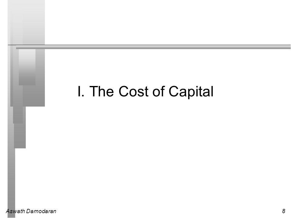 8 I. The Cost of Capital