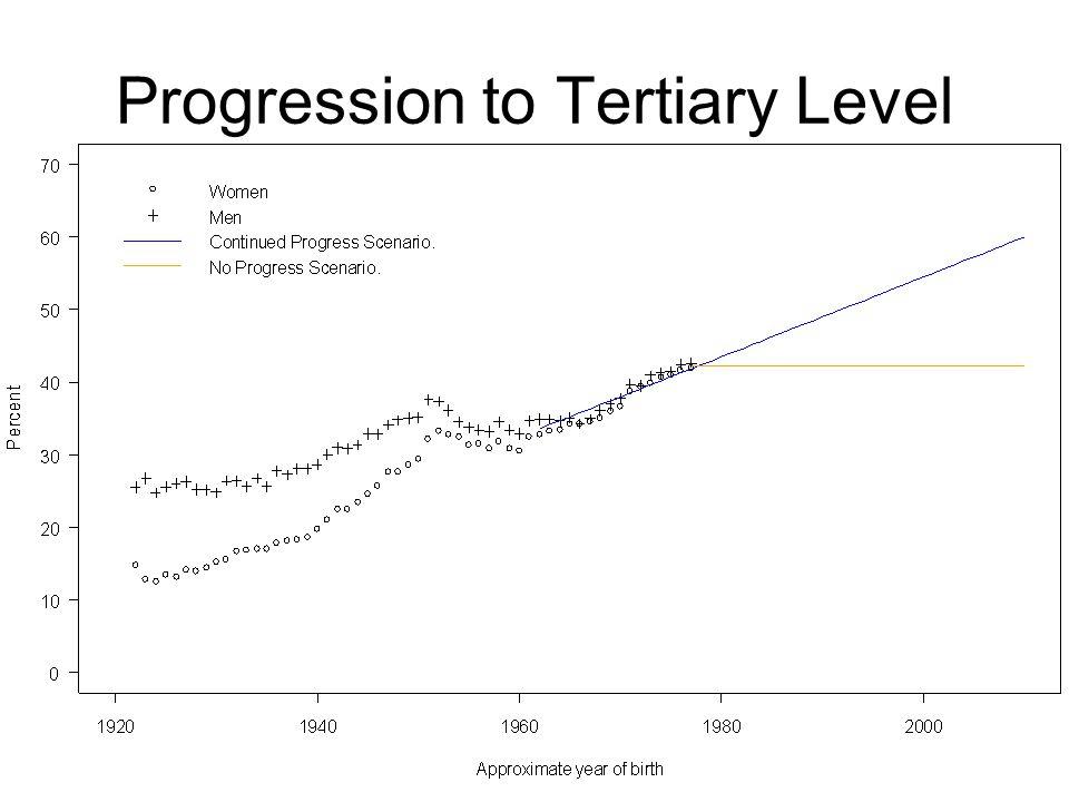 Progression to Tertiary Level
