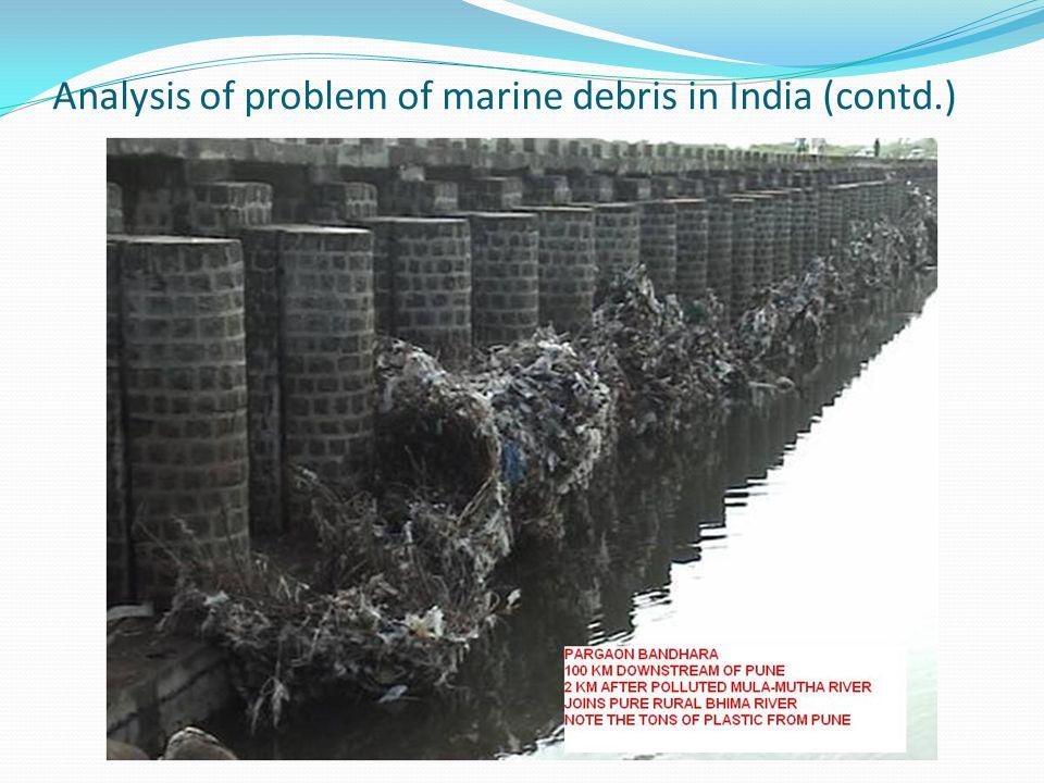 Analysis of problem of marine debris in India (contd.)