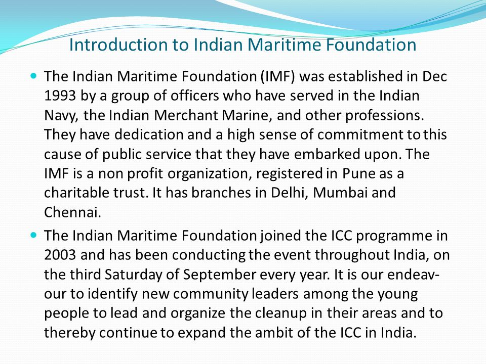 Introduction to India Coordinator – Cdr.