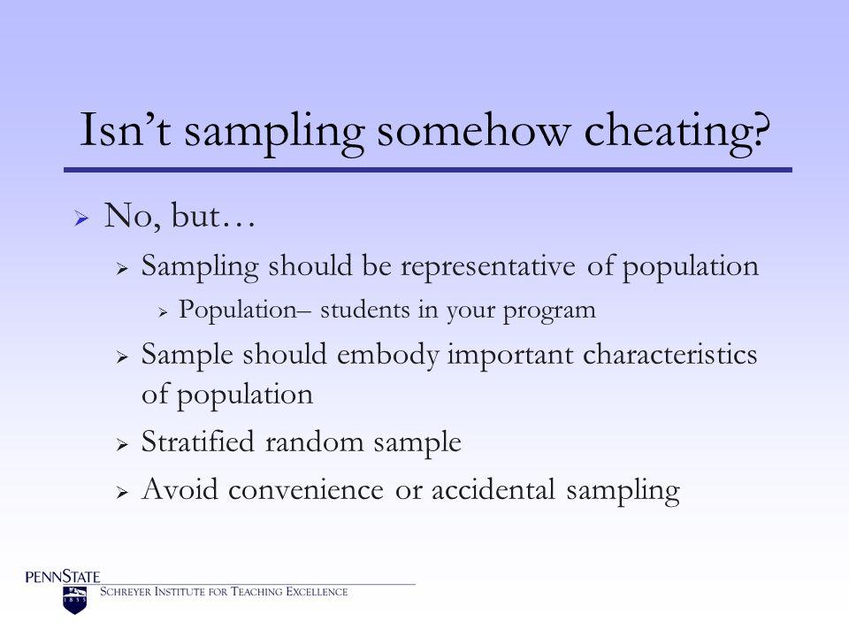 Isn't sampling somehow cheating.