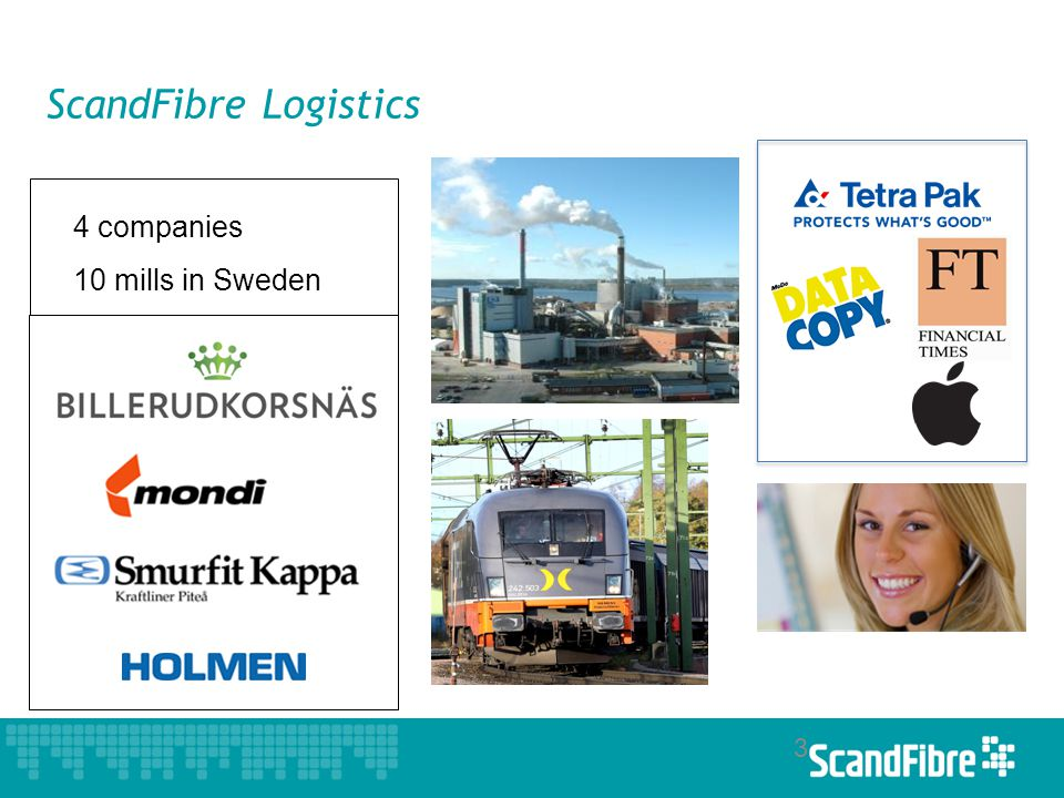 ScandFibre Logistics 3 4 companies 10 mills in Sweden
