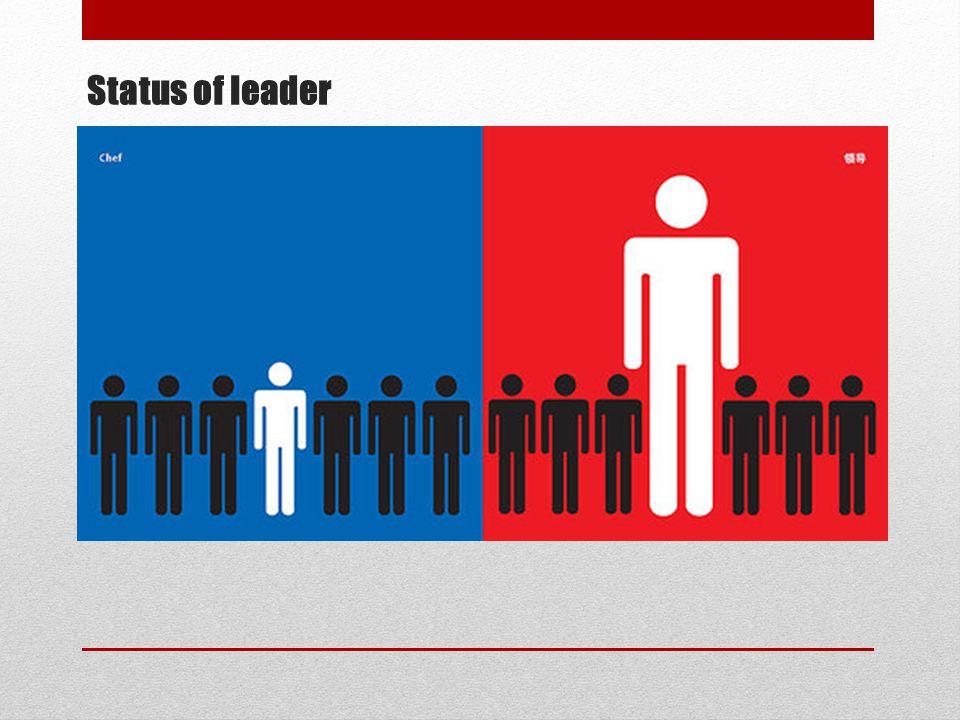 Status of leader