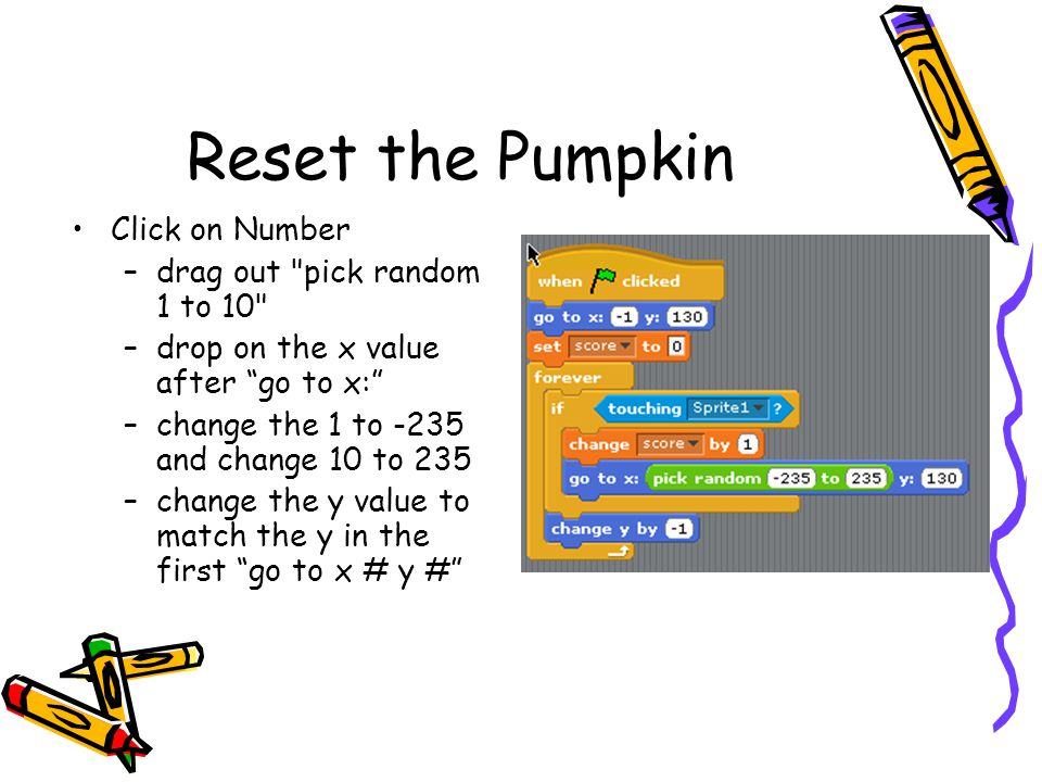 Adding Losing If the witch doesn t catch the pumpkin it just gets stuck at the bottom of the screen Let s tell the player that he or she lost