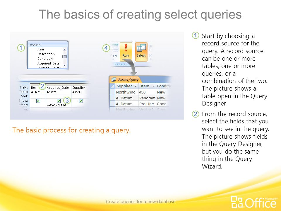 Use a formula in a query Create queries for a new database Using a function in a query.