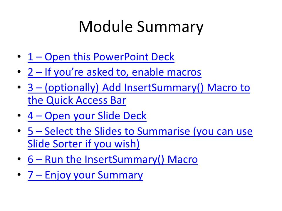 1 – Open this PowerPoint Deck