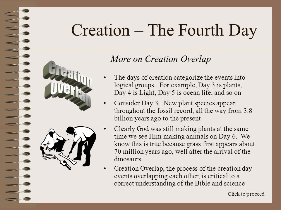Creation – The Fourth Day How Long is the Fourth Day.