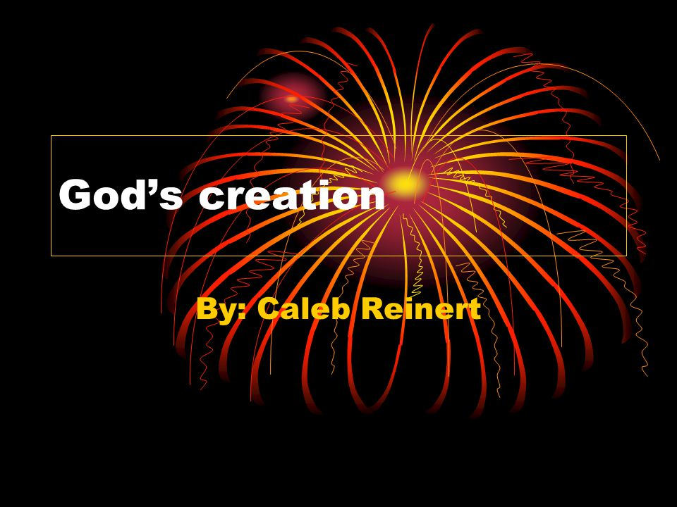  In seven days God created every thing.On the first day God created heaven and the world.