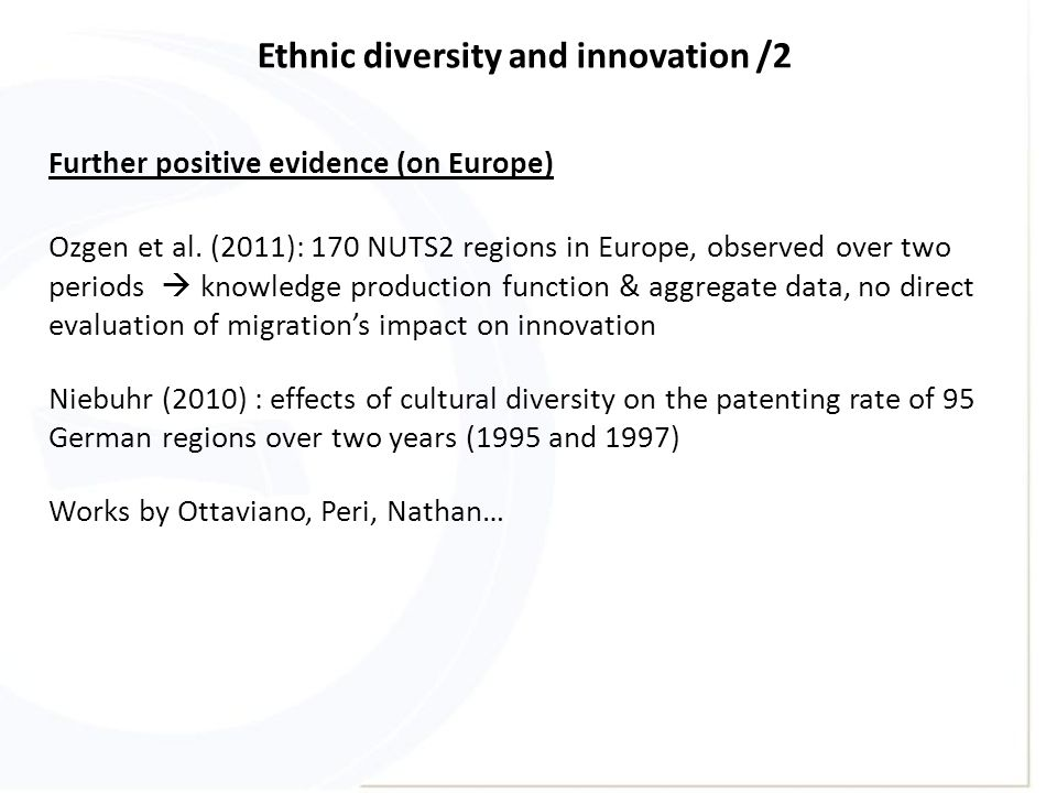 Ethnic diversity and innovation /2 Ozgen et al.