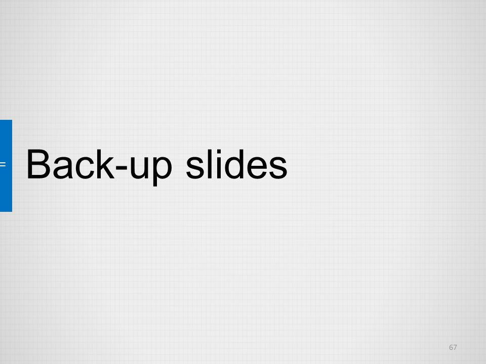 67 Back-up slides