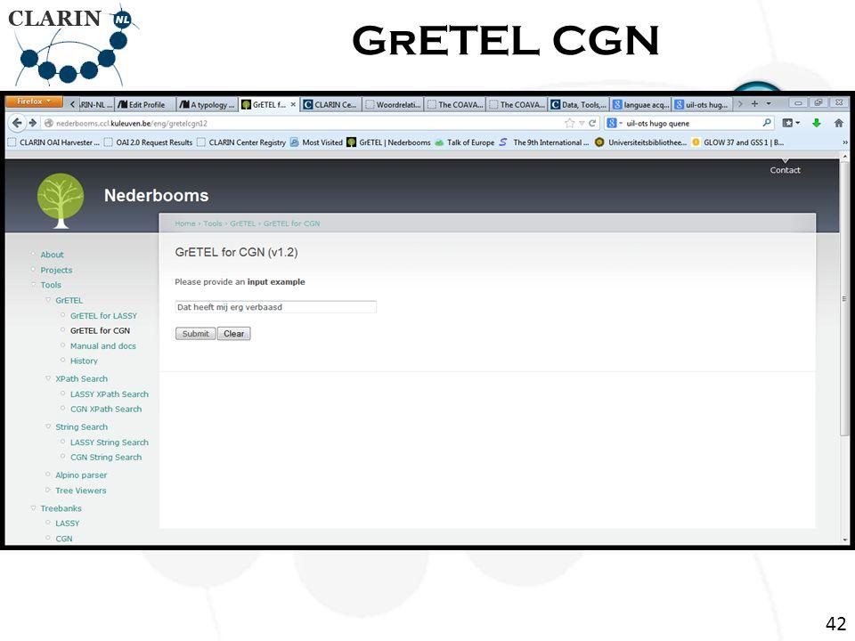 Return Page GrETEL CGN 42