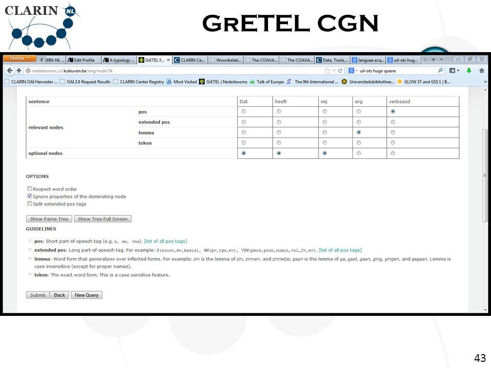 Return Page GrETEL CGN 43