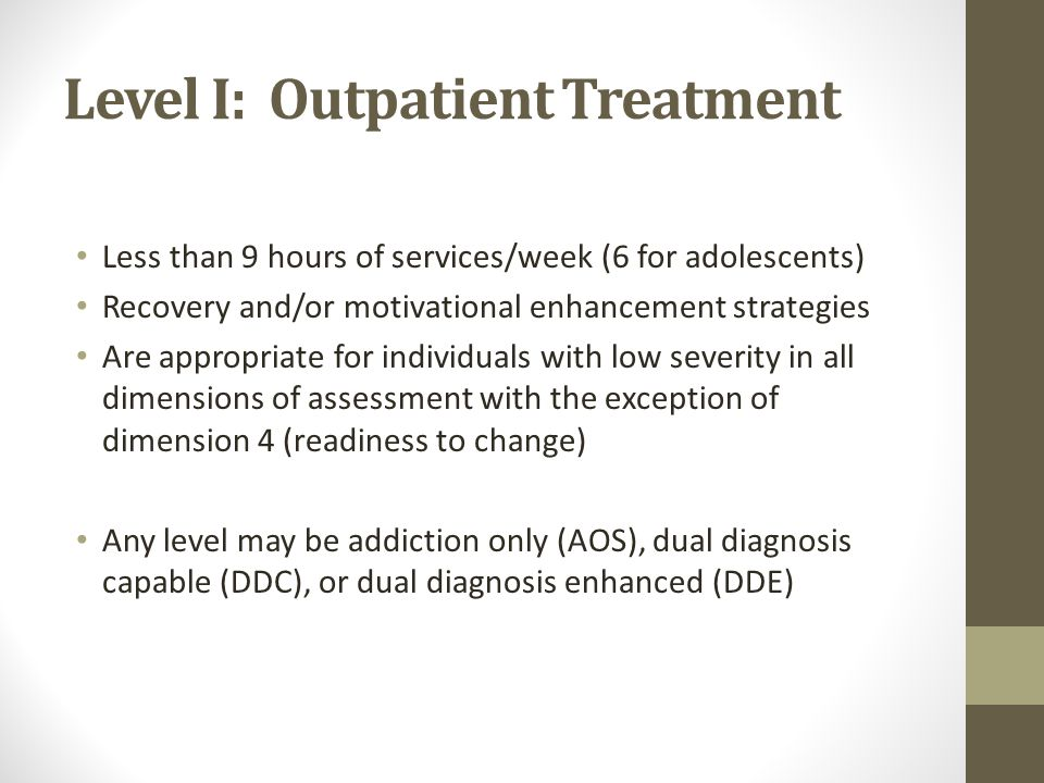 .05 Early Intervention For those individuals who are at high risk for developing substance use disorders or for whom there is insufficient information