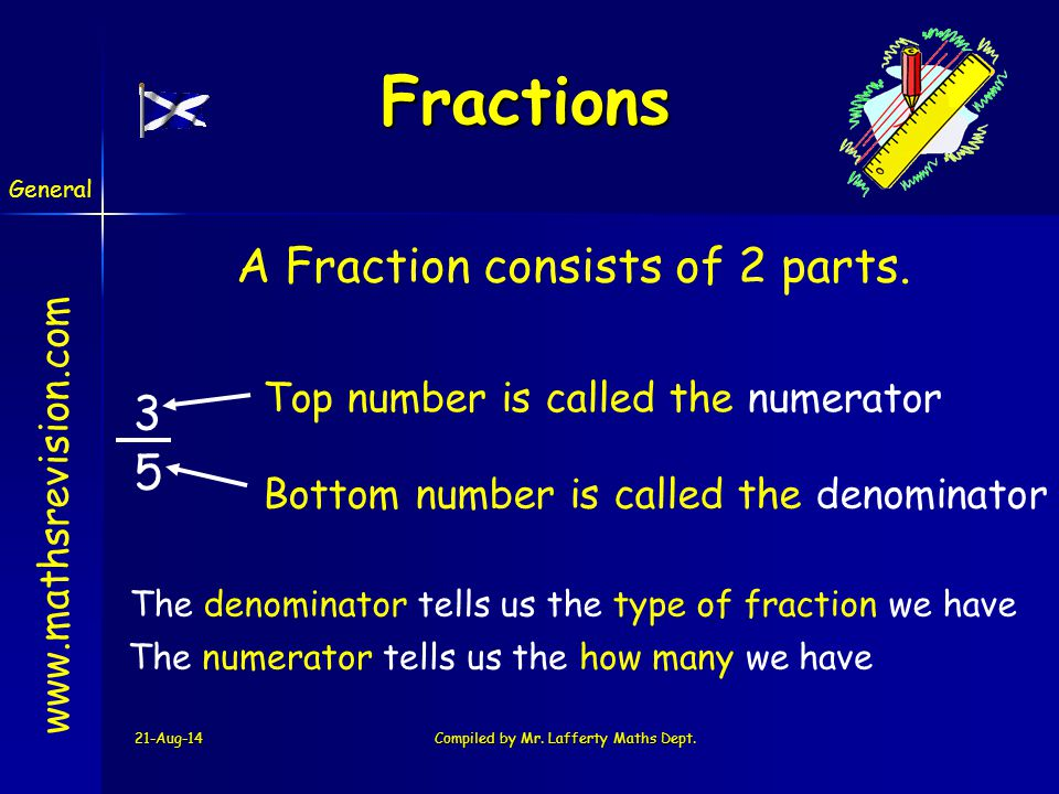 21-Aug-14Compiled by Mr.Lafferty Maths Dept. www.mathsrevision.com Q.